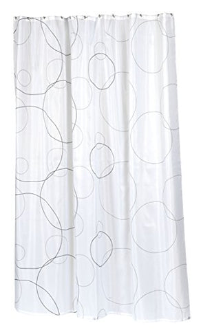 BenandJonah Collection Fabric Extra Long Shower Curtain 70 x 84 inch  Bubbles