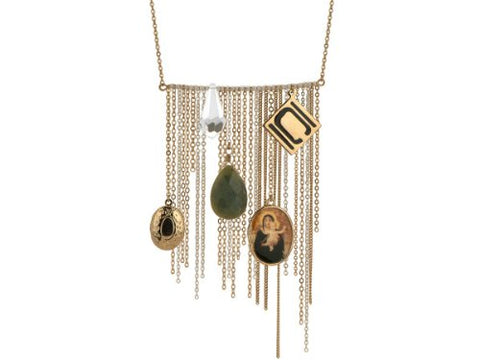 Regalo Perfecto Collection Nikki Chu Gold Tone Opera Length Tassle Necklace