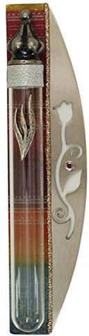 Ultimate Judaica Mezuzah Case Lazer Cut 10cm Rainbow