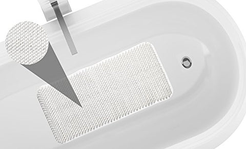 Park Avenue Deluxe Collection Park Avenue Deluxe Collection Grass Look Vinyl Bath Tub Mat Size 14 inch  x 26 inch  in White