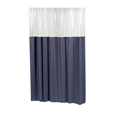 Park Avenue Deluxe Collection  inch Window inch  Vinyl Shower Curtain in Slate