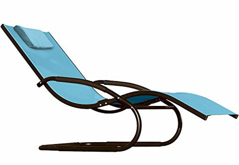 Eclipse Collection The Wave Lounger - Sky Blue (with black frame)
