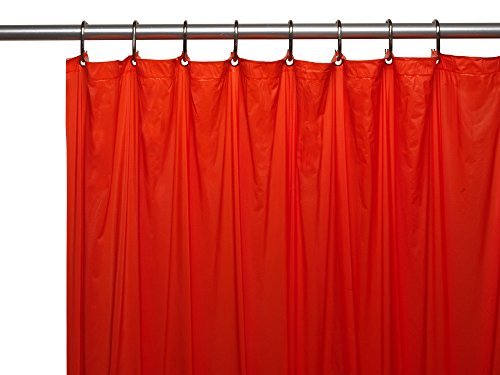 Royal Bath Heavy 3 Gauge Vinyl Shower Curtain Liner with Weighted Magnets and Metal Grommets (72 inch  x 72 inch ) - Red