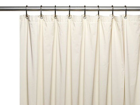 Park Avenue Deluxe Collection Park Avenue Deluxe Collection 3 Gauge Vinyl Shower Curtain Liner w/ Weighted Magnets and Metal Grommets in Bone