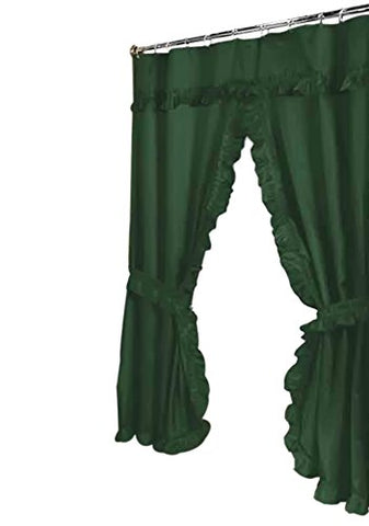 Park Avenue Deluxe Collection Park Avenue Deluxe Collection  inch Lauren inch  Double Swag Shower Curtain Evergreen