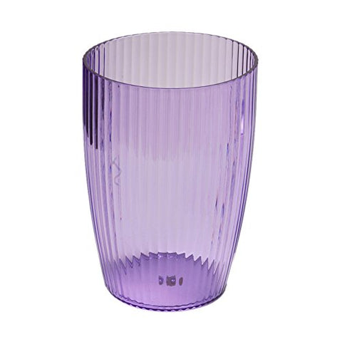 Park Avenue Deluxe Collection Park Avenue Deluxe Collection Magenta Rib-Textured Waste Basket