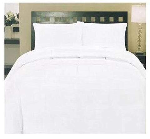 ComfortLiving Down Alternative 8 Piece Embossed Comforter Set - White (King)