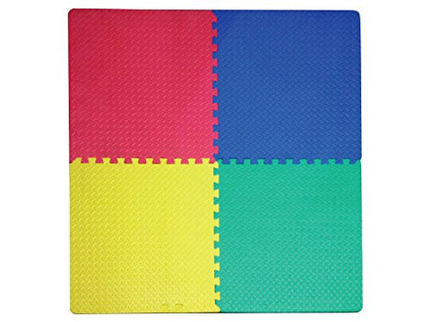 Regalo Perfecto Collection Foam Play Mat with Interlocking Squares