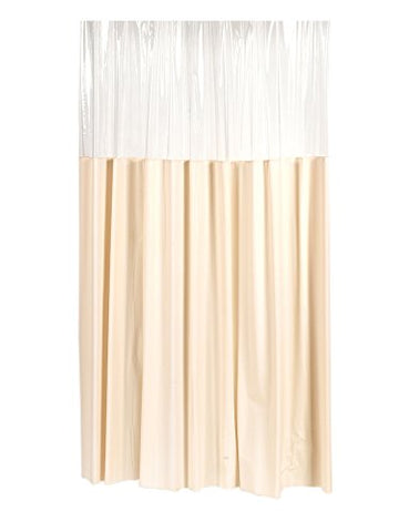 Park Avenue Deluxe Collection Park Avenue Deluxe Collection Extra Long  inch Window inch  Vinyl Shower Curtain in Ivory