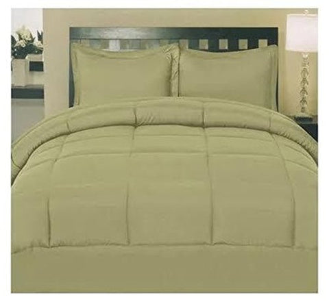 Cozy Home Down Alternative 8 Piece Embossed Comforter Set - Sage (Queen)