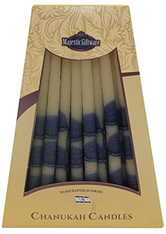Lamp Lighters Ultimate Judaica Chanukah Candles - 45 Pack - Blue/White - 6 inch