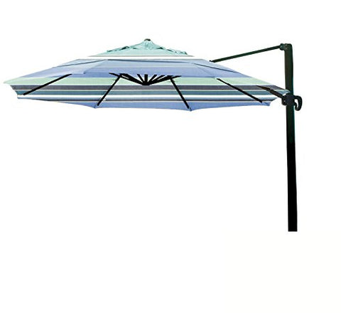 Eclipse Collection 11' CantileverUmbrella CrankLift MultiPositon Tilt Bronze/Sunbrella/Dolce Oasis