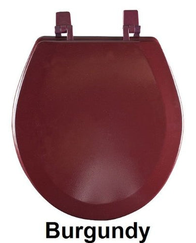 Ben&Jonah Collection Fantasia 17 Inch Burgundy Standard Wood Toilet Seat