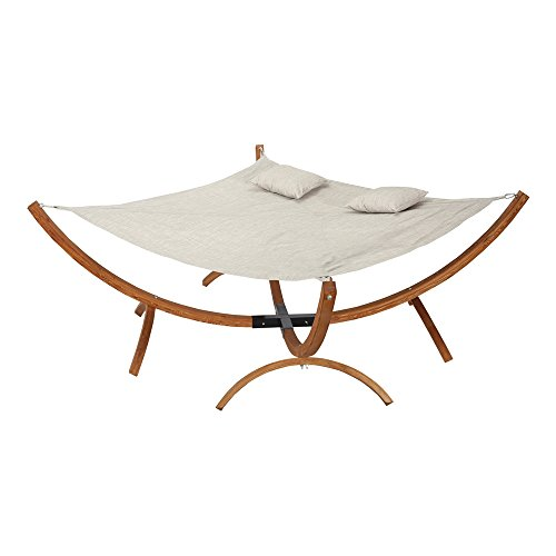 Eclipse Collection Square Hammock with Stand (7'L x 7'W x 3'H)