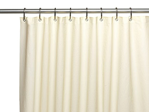 Splish Splash Extra Long and Heavy 10 Gauge PEVA Non-Toxic Shower Curtain Liner with Metal Grommets (72 inch  x 84 inch ) - Ivory