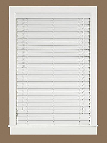 Park Avenue Collection Madera Falsa 2 inch  Faux Wood Plantation Blind 46x64 - White