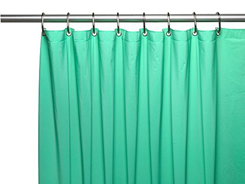 Park Avenue Deluxe Collection Park Avenue Deluxe Collection 3 Gauge Vinyl Shower Curtain Liner w/ Weighted Magnets and Metal Grommets in Jade
