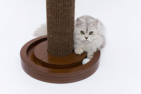 Pet Rite Collection Cat Scratching Post with Round Ball Toy Base Pet Toy