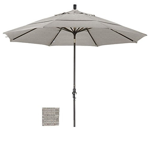 Eclipse Collection 11' Aluminum Market Umbrella Collar Tilt Bronze/Olefin/Woven Granite/DWV