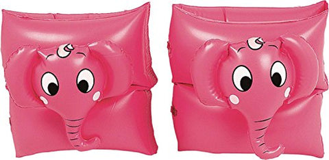 By PoolCentral Set of 2 Pink Funny Elephant Inflatable Swimming Pool Arm Floats for Kids 3-6 Years