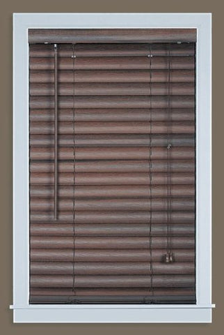 Park Avenue Collection Luna 2 inch  Vinyl Venetian Blind with 2 in. Valance 29x64 - Mahogany