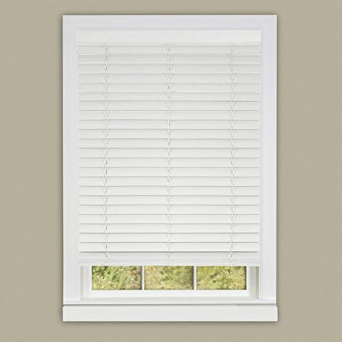 Park Avenue Collection Cordless Madera Falsa 2 inch  Faux Wood Plantation Blind 39x64 - White