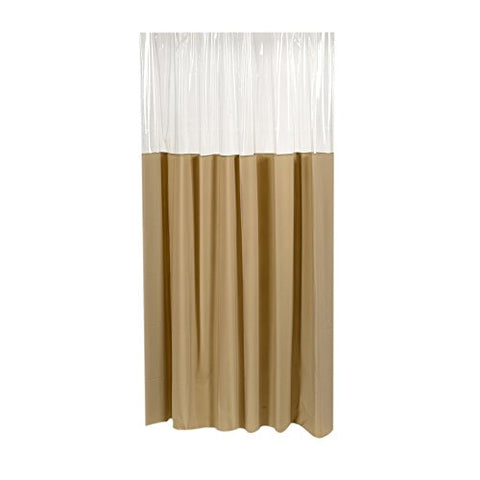Park Avenue Deluxe Collection Park Avenue Deluxe Collection  inch Window inch  Vinyl Shower Curtain in Linen