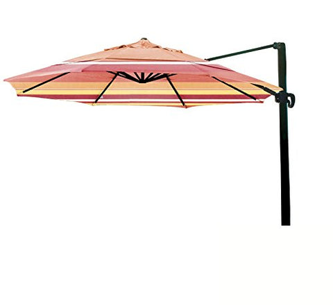 Eclipse Collection 11' CantileverUmbrella CrankLift MultiPositon Tilt Bronze/Sunbrella/Dolce Mango