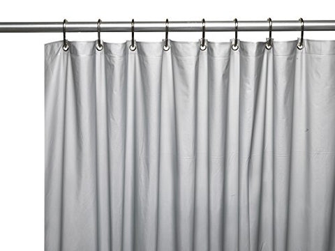 Park Avenue Deluxe Collection Park Avenue Deluxe Collection Hotel Collection 8 Gauge Vinyl Shower Curtain Liner w/ Weighted Magnets and Metal Grommets in Silver