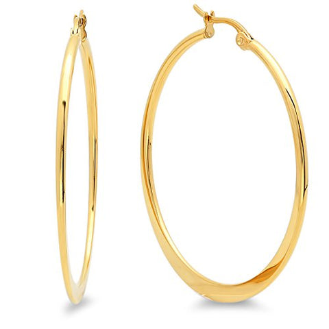 Ben and Jonah 18KT Gold Plated 45MM Hoop Earrings