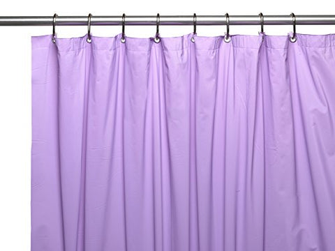 Park Avenue Deluxe Collection Park Avenue Deluxe Collection Premium 4 Gauge Vinyl Shower Curtain Liner w/ Weighted Magnets and Metal Grommets in Lilac