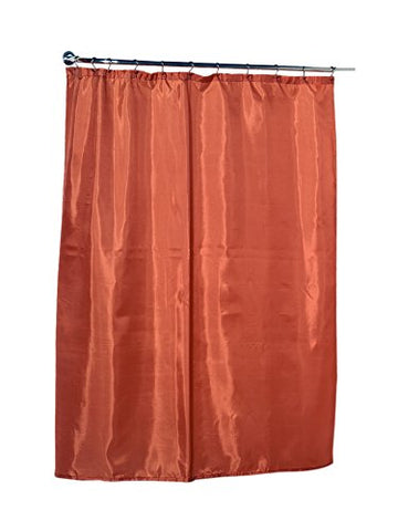 Park Avenue Deluxe Collection Park Avenue Deluxe Collection Standard-Sized Polyester Fabric Shower Curtain Liner in Tangerine