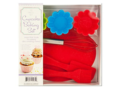 Regalo Perfecto Collection Silicone Cupcake Baking Set