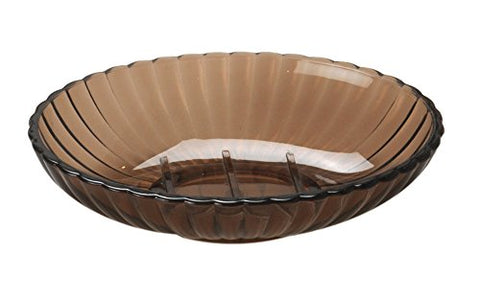 Park Avenue Deluxe Collection Park Avenue Deluxe Collection Brown Rib-Textured Soap Dish
