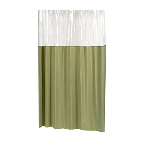 Park Avenue Deluxe Collection Park Avenue Deluxe Collection  inch Window inch  Vinyl Shower Curtain in Sage