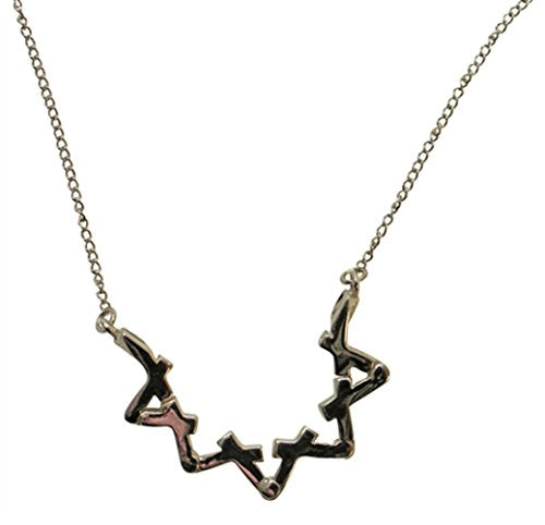 Silver Star Of David Necklace - Chain 18 inch  Pendant 1 1/8 inch  H 7/8 inch  W