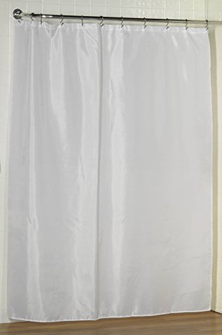 Royal Bath Extra Long Water Repellant Fabric Shower Curtain Liner with Weighted Hem (70 inch  x 84 inch ) - White