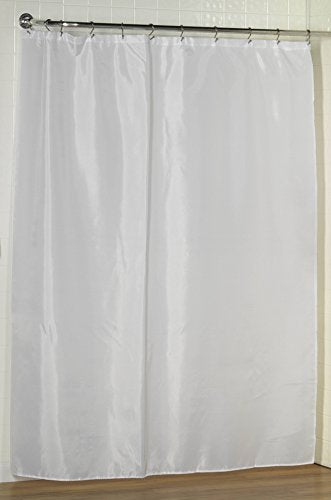 Royal Bath Water Repellant Fabric Shower Curtain Liner with Weighted Hem (70 inch  x 72 inch ) - White