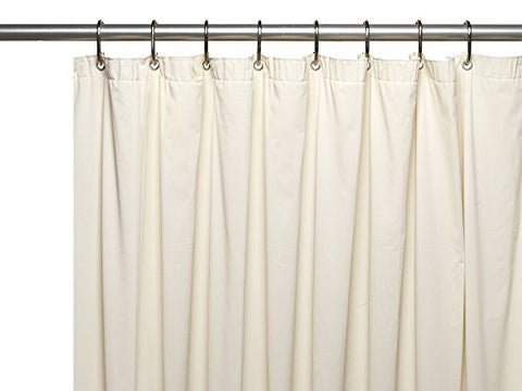 Park Avenue Deluxe Collection Park Avenue Deluxe Collection Hotel Collection 8 Gauge Vinyl Shower Curtain Liner w/ Metal Grommets in Bone