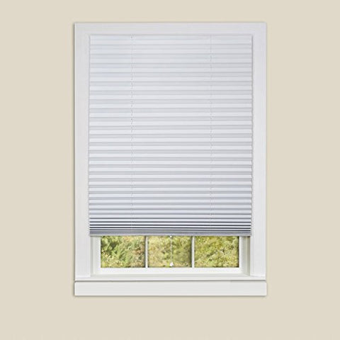 Park Avenue Collection 1-2-3 Vinyl Room Darkening Temporary Pleated Shade - White - 48x75 6 Pack