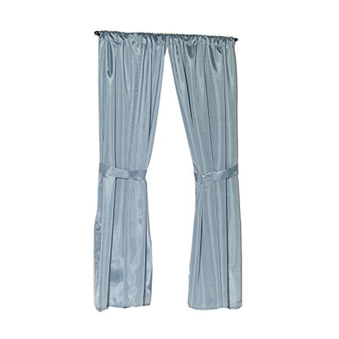 Park Avenue Deluxe Collection Park Avenue Deluxe Collection Polyester Fabric Window Curtain in Light Blue