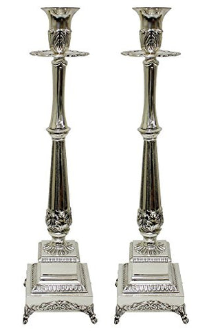 5th Avenue Collection Candle Sticks Silver Plated  16.5 inch H