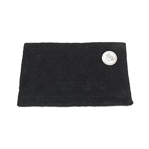 Park Avenue Deluxe Collection Park Avenue Deluxe Collection Large-Sized Reversible Cotton Bath Mat in Black