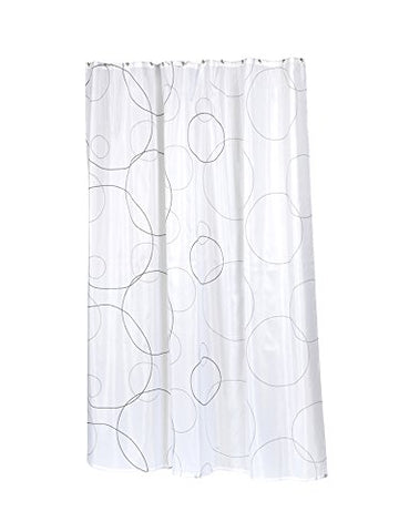 Park Avenue Deluxe Collection Park Avenue Deluxe Collection  inch Ava inch  Stall Size Fabric Shower Curtain