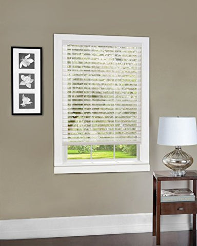 Park Avenue Collection Cordless Light Vane 2 inch  Slat Blind 35x64 - White