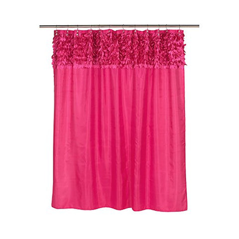 Park Avenue Deluxe Collection Park Avenue Deluxe Collection  inch Jasmine inch  Fabric Shower Curtain in Raspberry