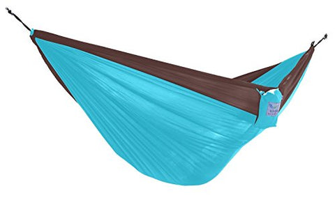 Eclipse Collection Parachute Hammock - Double (Chocolate/Turquoise) New