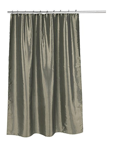 Park Avenue Deluxe Collection  inch Shimmer inch  Faux Silk Shower Curtain in Sage