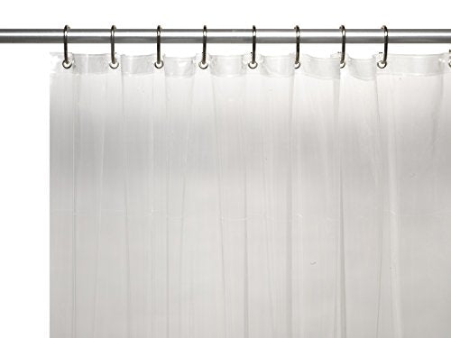 Royal Bath Extra Wide 5 Gauge Vinyl Shower Curtain Liner with Metal Grommets in Super Clear Size 108 inch  Wide x 72 inch  Long