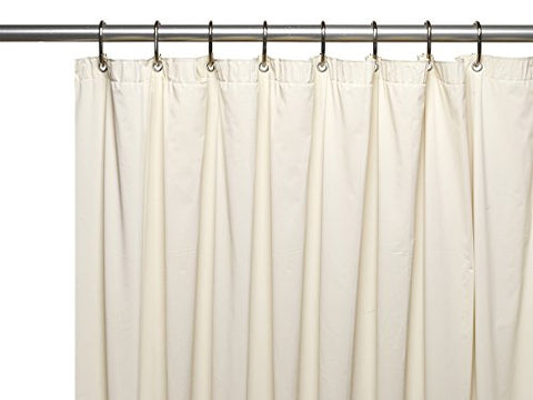 Park Avenue Deluxe Collection Park Avenue Deluxe Collection  inch Jumbo inch  Long 8 Gauge Vinyl Shower Curtain Liner in Bone